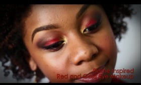 MAKE-UP TUTORIAL | Red and Gold Flame Inspired Make Up