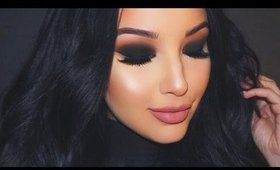 Valentine's Black Smokey Eye Makeup Tutorial ♡