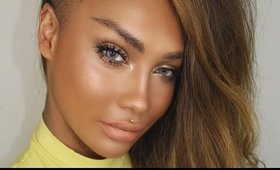 NATURAL SUMMER GLOW MAKEUP 2016 + METALLIC LIP NATURAL EYEBROWS | SONJDRADELUXE