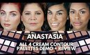 Anastasia Beverly Hills Cream Contour Kit Tutorial/Review + Demo Of Fair, Light, Medium and Deep Kit