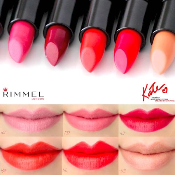 Rimmel London Kate Moss Lipstick Swatches Marlin