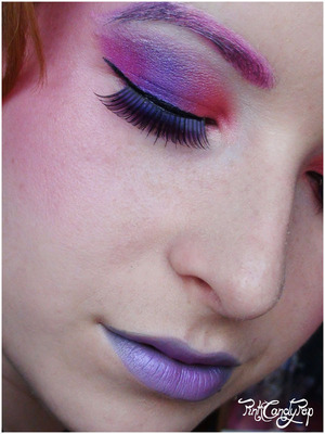 The Hunger Games - Effie Trinket inspired make up 3