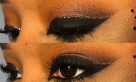 BLACK SUNSET CUT CREASE WITH GLITTER EYELINER | KRIZZTINA MITCHELL