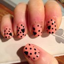 Heart+dot nails!