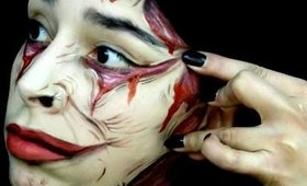 FX Makeup using Body Paint: Stretched Skin