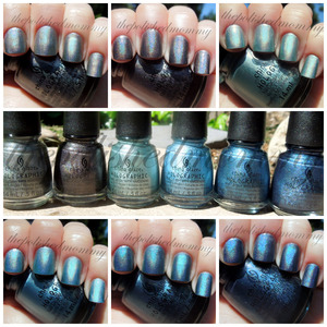 March Nail Art Challenge: Swatch.  http://www.thepolishedmommy.com/2013/03/china-glaze-hologlam-holographic.html