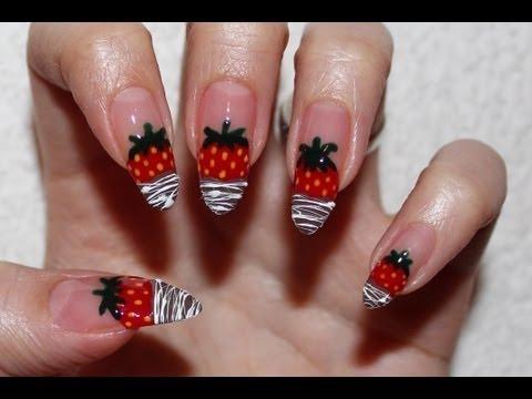 Chocolate Dipped Strawberries Nail Art Kirakiranail Video Beautylish