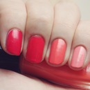 Coral Ombre Nails