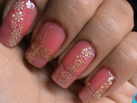Easy Lace Nail Art Design Tutorial With Nail Art Stickers How To