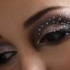 Rhinestone eyes make up