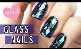 DIY Shattered Glass Nails
