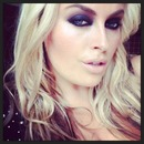 Dark purple smokey eyes