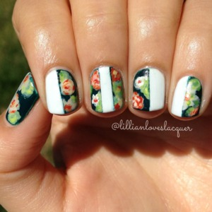Inspired by floral print denim by 7 For All Mankind