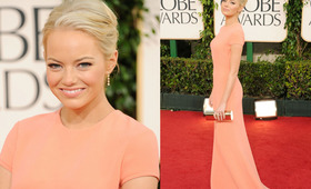 Golden Globes Makeup 2011: Emma Stone