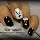 Halloween Nail Art Design | Fun 'Nun' Nails