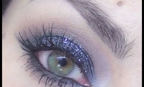 New Year's Eve Party makeup tutorial - Black glitter smoky eyes