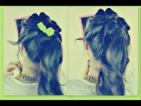 ☆5 MIN LOOPY PUFFY PONYTAIL | EASY HAIRSTYLES FOR SCHOOL | UPDOS FOR MEDIUM LONG  HAIR TUTORIAL
