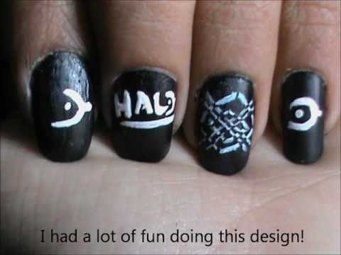 Halo Reach Easy Nail Designs For Short Nails Beginners Home Nail