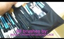 MY make up kit for freelance! (Brushes, Make up, etc.)