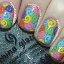 Glitter and Rainbow Swirls