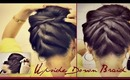 ★ KOREAN BUN UPSIDE DOWN  BRAIDED FRENCH ROPE BRAID BUN/CHIGNON FOR MEDIUM LONG HAIR TUTORIAL UPDO