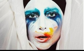 Lady Gaga - Applause (ArtPOP) single cover Make Up Video - A HUGE MESS!!!
