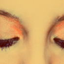 Light orange eyeshadow