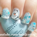 Olaf! Frozen Inspired Nail Art
