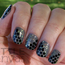Gray and Black with Glitter
