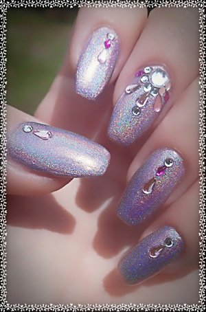 Pink Holographic Bling
