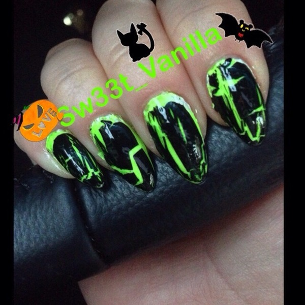 Nail Cake October 2013: Halloween Nails / October 2013!! 🔮👻🎃 Stiletto Nail