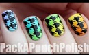 Gradient Houndstooth Print Nail Art Tutorial