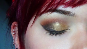 Kat von D look with brown eyeliner