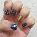 Orly Royal Navy, Sashay My Way, Avon Sparkling Gold and Deborah Lippmann Nefertiti