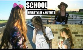 Hairstyles For School! Cute Back To School Outfits!