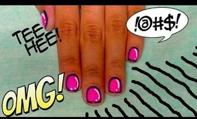 CARTOON-LIKE NAILS!
