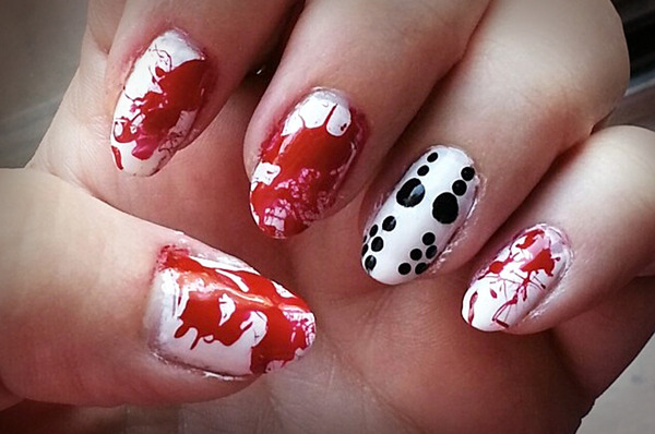 Halloween nail art beautylish prinsesfo Image collections