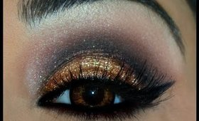My pakistani wedding look (Bold Glitter Smokey eyes)