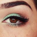 Aqua Brown makeup
