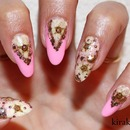 Dried Flowers & Sea Shell Nails