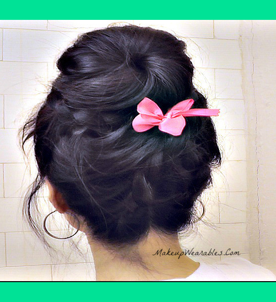 Cute Braided Bun Hairstyles For Short Hair : Upside down braided sock bun hairstyles tina