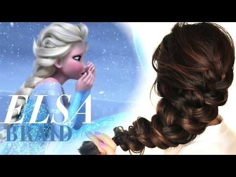 ★frozen elsa's messy braid hair tutorial  cute hairstyles