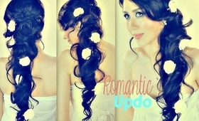 ★REALLY ROMANTIC PROM UPDO WITH CURLS FOR LONG HAIR TUTORIAL| EASY FORMAL WEDDING HAIRSTYLES Peonado