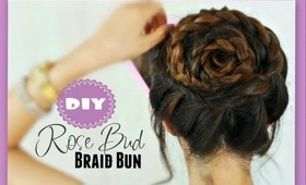 ★ROSE BUD BRAIDS HAIR TUTORIAL | BRAIDED BUNS, SUMMER HAIRSTYLES, & UPDOS FOR MEDIUM LONG HAIR