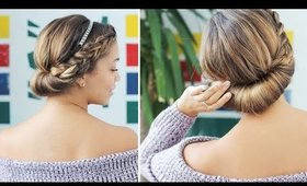 Easy Updo For Short Hair | Luxy Hair