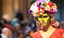 Vivienne Westwood Paints Faces Green, Gives Andy Warhol New Life on the Runway