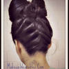 Double Hair Bow :  Upside Down French Braid Hairstyle with hair Bows Tutorial! :)