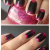 Half-moon and gradient (Black and Fuchsia)