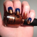 China Glaze First Mate & Harvest Moon