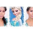 Romantic Valentine's day look inspired by Elsa from Disney's Frozen.